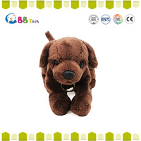 2015 promotion gifts plush animal toy stuffed brown and black dog cute small sha pi dog soft toy