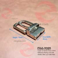 Double Layer of Leather Belt Use Zinc Alloy Metal Reversible Belt Buckle