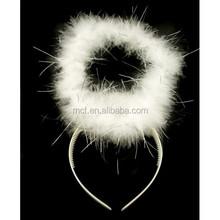 party supplier white angel halo halloween headband headdress HAL-0157