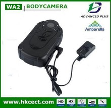 Big memory 16gb with motion detection walkies talkies dual lens built out gps Police camera body