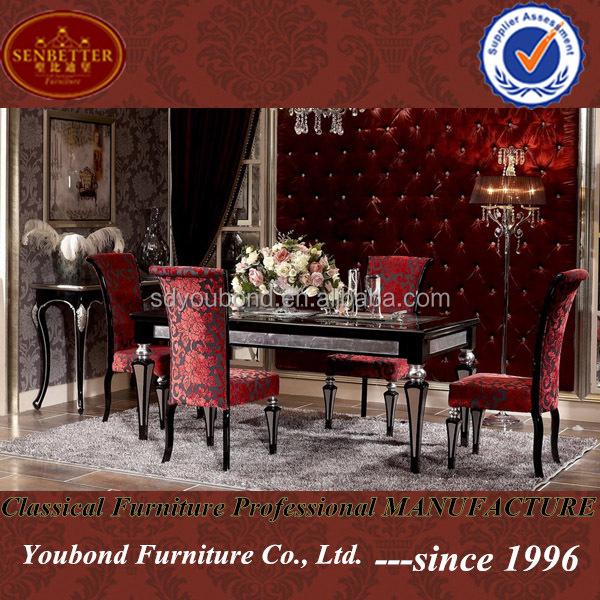 yb07 hochwertige italienische stil luxus modernen tisch und st hle esszimmer m bel essstuhl. Black Bedroom Furniture Sets. Home Design Ideas