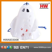 Funny Plastic Ghost With Colorful Lights Halloween Props(Battery Included)