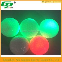 2015 bulk cheap custom design LED/glow golf ball with custom logo ,practice golf ball