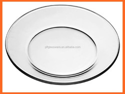 round clear Glass Salad Dessert Plates