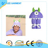 Maddie Monster One -Eyed Purple Children's Hooded Towels