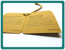 High quality recycled paper hang tag