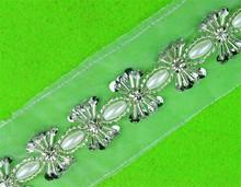 zly609 Dragonfly Design Crystal Rhinestones Trim with Glue on Back For Cake Trim Bridedragonfly crystal trim applique