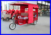 Battery Operated Rickshaw For passanger 48V850W Brushless Rear Axle E-Tricycle