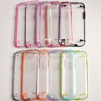 Dual colors luminous shell case for Samsung Galaxy Note 2 for Samsung Galaxy Note 2 N7100 tpu+pc protective covers