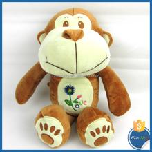 Forest Animal Soft Plush Stuffed Baby Plush Toys Brown Big Mouth Monkey
