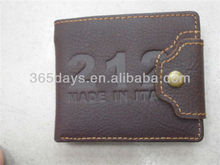 fashion travel small men wallet with coin pocket