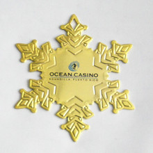 Snow flake Christmas ornament with imprinting
