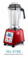 Blender for commercial and home, LCD display blender mixer, ice crusher, juicer
