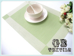 sage green color waterproof table placemats