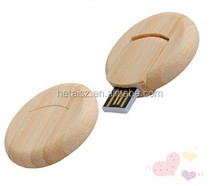 Hot Wooden Round USB flash drive 16GB 32GB Maple wood Memory stick Pen drives 4GB 8GB gift