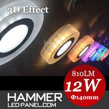 2015 hot 3 years warranty slim round 3d effect full acrylic small chinese led flashlight & led light panel,led party lights
