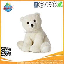 pure white plush bear toy