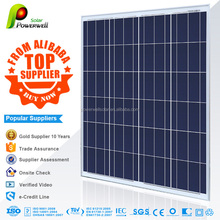 Powerwell Solar 100w Poly With CE/IEC/TUV/ISO/CEC/INMETRO/CHUBB Approval Standard Top Supplier From Alibaba 12V Solar Panel