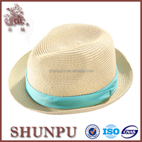unisex recycled paper straw hat/materials to make hats