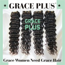 "Grace plus 8-30"" deep wave ali queen brazilian virgin human hair weft cheap long arjuni arabian tasha curly cexxy hair weave"
