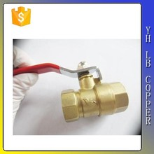 """Red Plastic Coated Metal Lever 1/4""""PT Thread M/F Brass Ball Valve"""