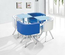 High Quantity Round Glass Dining Table Set