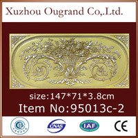 fire resistant pu decorative wall panel carved wood