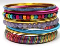 Unique Sales Gift Ideas Yougn Girl Handmade Trendy Jewelry Bohemian Bangle Set