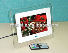 OEM ODM factroy promoting- low price 7'' motion sensor frame,auto play photo,music,video when people come near