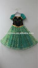 instyles más barato los niños niñas vestidos de elsa congelado vestido de traje de princesa anna vestidos de fiesta