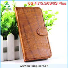 High-end Cowhide Card Pouch PU Shockproof Wallet Covers Case For iPhone 6S 6S Plus