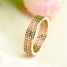 Yiwu Aceon stainless steel laser cut 18k gold plated fashion female jewelry macrobian ring