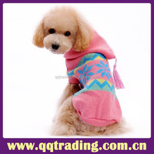 Best selling china manufacture factory low MOQ pink color cap fresh dog sweater