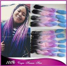 "Cheap price 20"" folded ombre jumbo braid 100 kanekalon synthetic hair x-pression braiding"