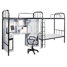 School Student Dormitory Bed With Desk Bunk Bed With Chest