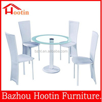 2015 high glossy glass glossy dining table