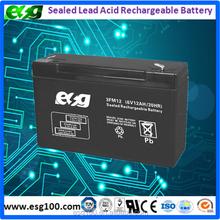 6v 12ah UPS battery, Lead-acid battery, maintanence free recharge battery