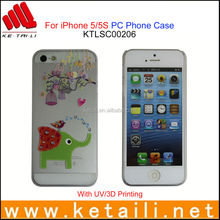 ODM OEM Jeweled Plastic Cell Phone Case for iPhone 5S MADE IN CHINA