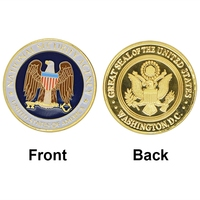 New Product US National Security Agency Commemorative Coin, Fancy 24k Gold Plated Coin NSA Challenge Coin For Collection