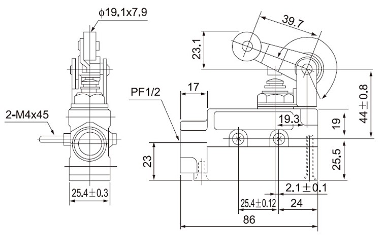cntd ip65 protection level pneumatic winch limit switch