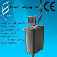 professional medical CE equipment get rid of eyebrow line medical laser Q switch nd yag laser