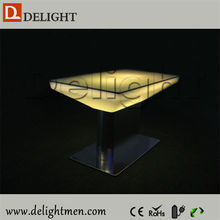 Cheap plastic 16 color changing rechargeable bar furniture industrial table made in china
