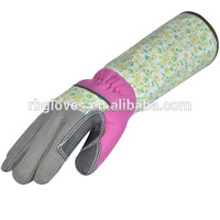 Long Cuff Textured PVC patch Protection Work Glove/Garden Glove