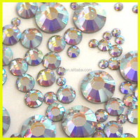 Wholesale Hot Fix Crystal AB Rhinestone Hotfix For Dress