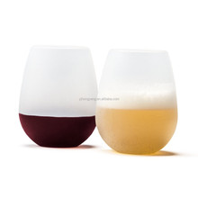 wholesale silicone wine glasses and cup for barware can pass FDA and LFGB test