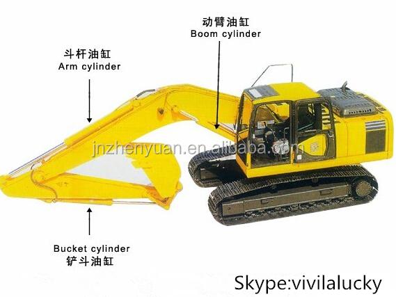 Original Excavator Hydraulic Arm Cylinder Pc220-7 ...