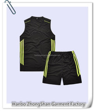 highly breathable sleevesless basketball wear cheap custom basketball jerseys polyester dry fit mens basketball wear