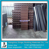 2015 high quality colored stone coated steel roofing tile price
