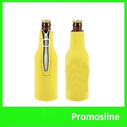 Hot Selling customized Neoprene Beer Bottle Cover With Zipper