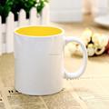 11oz simples caneca de cerâmica, cerâmica copo de sublimação, promocional caneca de esmalte